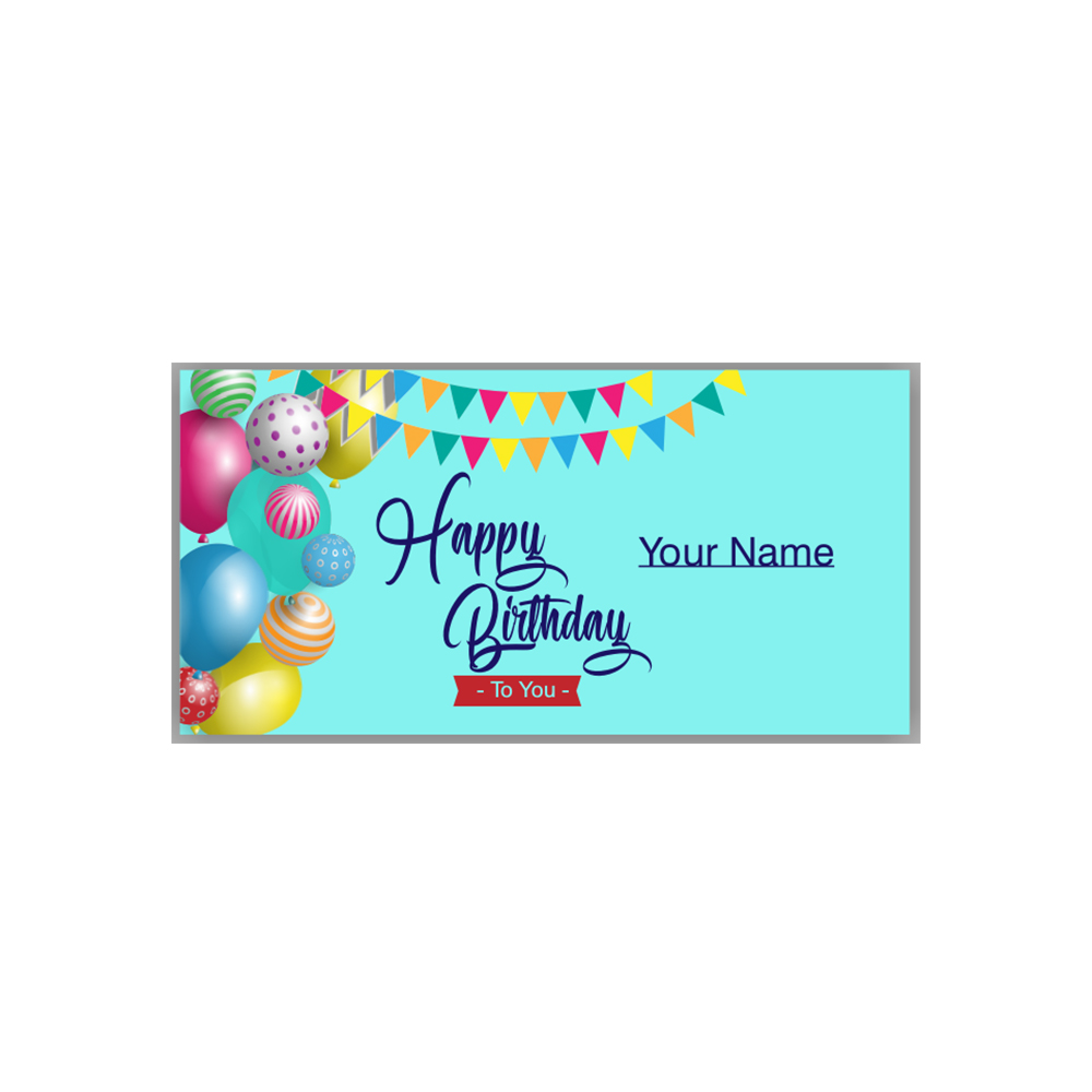 happy birthday banner with customized name valle signs ny