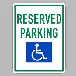 Handicap Reserved Parking Sing