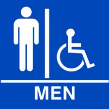 Mens ADA Restroom Sign - Order Now